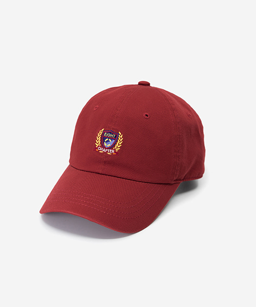 EMBLEM Washed Ball Cap Wine