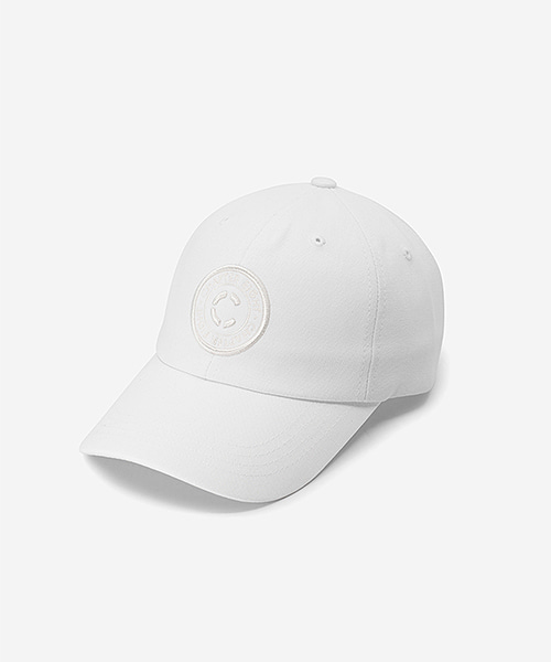 Circle Logo Cap White