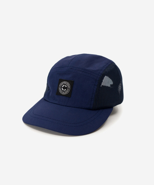 Kids Nylon Mesh Camp Cap Navy [52cm]