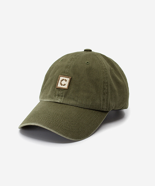 Stone Washed Cap Olive