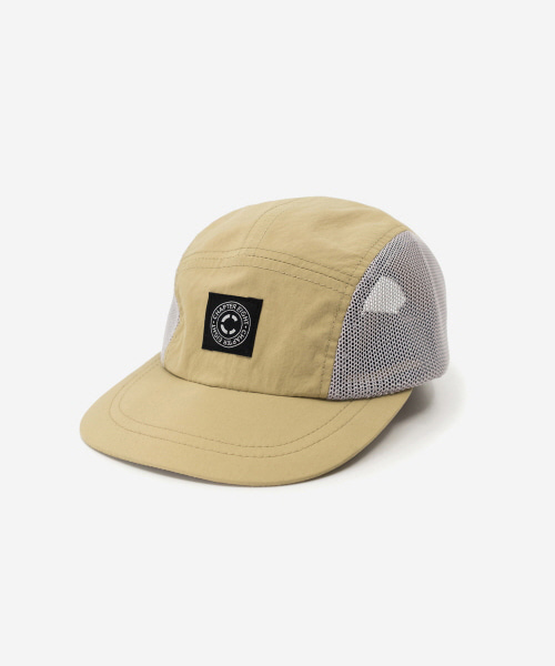 Kids Nylon Mesh Camp Cap Beige [52cm]
