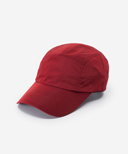 Big Sized Camp Cap Metal Nylon Red