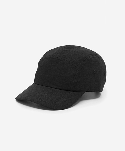 Big Sized Camp Cap Cotton Ripstop Black