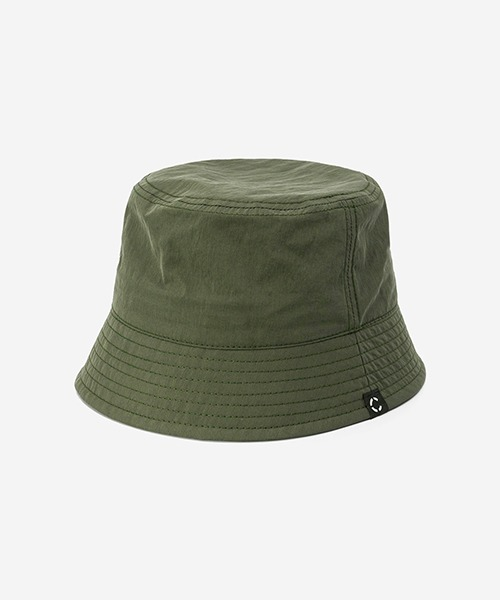 Big Sized Bucket Hat Washed Nylon Olive